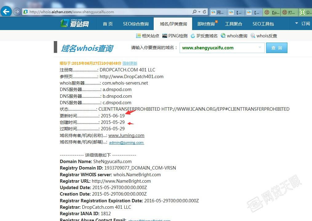 盛达投资网站域名注册信息