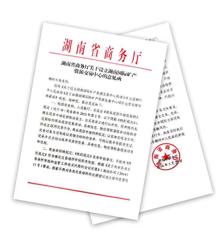 湖南省商务厅批文
